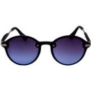 Debonair Round Sunglasses(Golden, Black)
