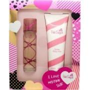 Aquolina Pink Sugar Gift Set 100ml EDT + 250ml Body Lotion - I Love My Pink Side Edition