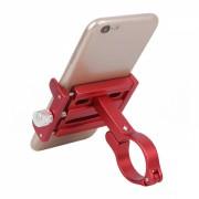 Mini suport telefon din aluminiu, latime acomodata 55 - 100mm, pentru trotineta / bicicleta/ carut/ motocicleta, rosu