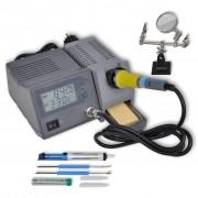 vidaXL 48W цифрова станция за запояване с принадлежности