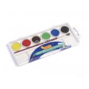 Acuarele 6 culori/set (22 mm diametru)+ pensula Jovi