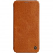 NILLKIN Qin Leather Folio Card Holder Phone Cover for iPhone 11 6.1 inch (2019) - Brown