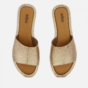 Melissa Women's Soul Slide Sandals - Gold Glitter - UK 7 - Gold