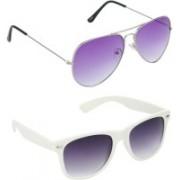 Redleaf Aviator, Wayfarer Sunglasses(Violet)