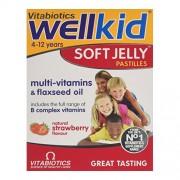 Vitabiotics Wellkid Soft Jelly capsuni 30cp