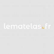 Terre de Nuit Drap Housse 100% coton Blanc - Bonnet 27 cm 100x190