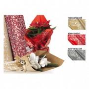Csomagoló fólia 1x25m piros/ezüst
