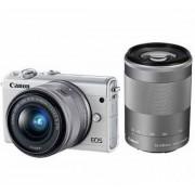 Canon EOS M100 Kit Weiss - inkl. Objektiv EF-M 15-45 + EF-M 55-200