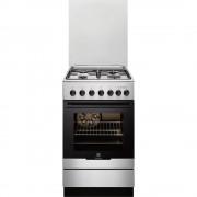 Aragaz Electrolux EKM51351OX, Mixt, 3 Arzatoare gaz, 1 arzator electric, Cuptor electric, Grill, 50x60 cm, Inox