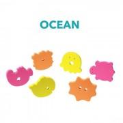 BabyOno fürdőjáték puzzle szivacs, 6 db - 534 óceán