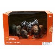 Set 4 figurine - Hipopotam Elefantel Zebra si Leu NTM02002
