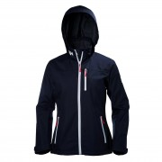 Helly Hansen Womens Crew Hooded Midlayer Jacket L Navy