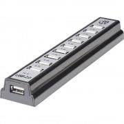 10-portni USB 2.0 hub 161572 Manhattan crni-srebrni