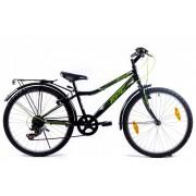 KPC Dennis 24 6 sebességes gyerek kerékpár Fekete