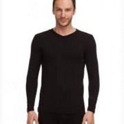Doreanse Мужская кофта из ткани вилофт черного цвета Doreanse 2985c01