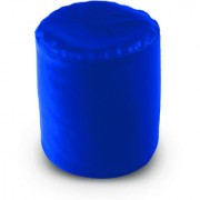 Dolphin Footstool Puffy Bean Bag-R.Blue (Round)-With Bean/Filled