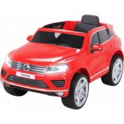 Masinuta electrica Premier Volkswagen Touareg 12V roti cauciuc EVA scaun piele ecologica rosu