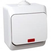 Intrerupator simplu cu indicator luminos Schneider Cedar WDE000514, alb (SCHNEIDER)