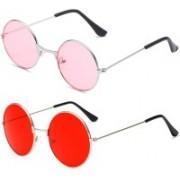 SRPM Round Sunglasses(Pink, Red)