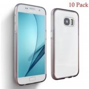 Case Para Celulares, [Paquete De 10] Samsung Galaxy S7 Edge Caso, S7 Borde Claro Caso S7 Borde Anti Gravitacional Caso Anti-gravedad Magic Selfie Pegajoso Nano Protector Caso A Prueba De Choque Para Samsung S7 Borde Claro