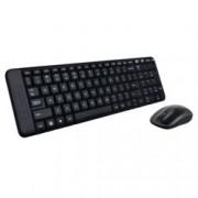Logitech Wireless Desktop MK220, комплект безжични клавиатура & мишка, черни, USB