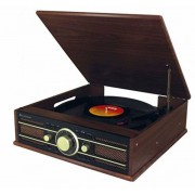 Soundmaster PL550BR - Stereo Plattenspieler mit UKW Radio, USB und Encoding
