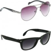 Vast Aviator Sunglasses(Violet, Grey)