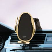 JOYROOM JR-ZS199 15W Fast Charging Wireless Charger Car Instrument Platform Phone Holder for 4''-6.5'' Smart Phones - Gold