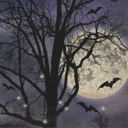 Vegaoo 16 servetter i papper till Halloween med fullmåne 33 x 33 cm One-size