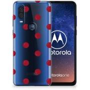 Motorola One Vision Siliconen Case Cherries
