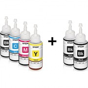 Original Epson Ink set Colors with 2 Black Extra (T6641-B T6642-C T6643-M T6644-Y) 70 Ml