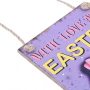 Electroprime® Easter Egg Hunt Love Wooden Directive Board with Ribbon