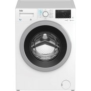 Masina de spalat rufe Beko HTV8636XS0, 8kg/5 kg, 1200 rpm, 15 programe, SteamCure™, Display, Child Lock, Motor ProSmart ™ Inverter, HomeWhiz®, Clasa B, Alb