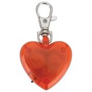 Geen Honden riem/halsband led lampje hartje aan sleutelhanger