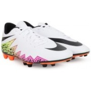 Nike HYPERVENOM PHADE II FG Football Shoes(Black, White, Pink)