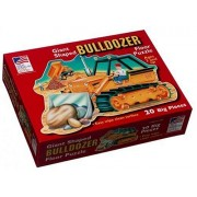 Great American Puzzle Factory Bulldozer Giant Shaped Floor Puzzle