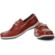 Clarks Orson Harbour Boat Shoes For Men(Red)
