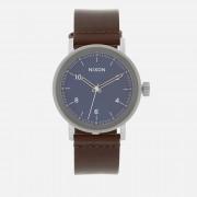 Nixon Men's The Stark Leather Watch - Blue Sunray/Brown