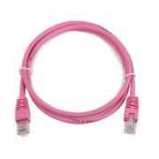 """PP12-0.25M/RO Gembird UTP cat.5E Rose Patch cord molded strain relief 50u"""" plugs, 0,25 m"""