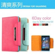 Original Kalaideng Fresh Series PU Leather Wallet Stand Case Cover For Nokia Lumia 920 - PINK