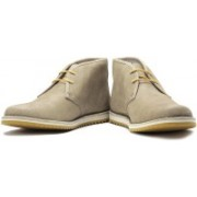 Clarks Maxim Top Boots For Men(Beige, Yellow)