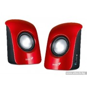 SPEAKER, GENIUS SP-U115, 1.5W RMS, Red (31731006101)