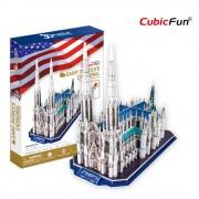 Cubicfun Catedrala Sf Patrick SUA Puzzle 3D 117 piese