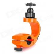 360 Grados Holder tripode adaptador de bicicletas para GoPro heroe 4/3 + / 3/2/1 - Negro + Naranja