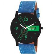 Radius Green Quartz Analog Blue Strap Black Round Dial Men's Watch