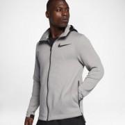 Nike Therma Flex Showtime Herren-Basketball-Hoodie mit durchgehendem Reißverschluss - Grau