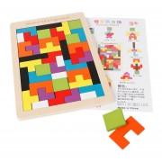 Madera rusas bloques huecos de los niños educativos de DIY juguetes rompecabezas de juguete de madera rompecabezas de jardín de infancia educación de la primera construcción de bloques