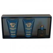 Versace Eros Mini EDT 0.17 oz / 5 mL + Showe Gel 0.8 oz / 23.66 mL + After Shave Balm 0.8 oz / 23.66 mL Gift Set Men's Fragrance