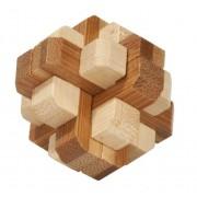 Fridolin Joc logic IQ din lemn bambus in cutie metalica-4