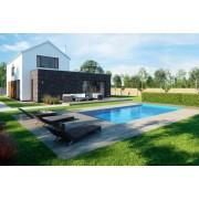 Swimmingpool-Komplettset G1 mit Skimmer 3,00 x 4,00m und Pool-Überdachung / Pooldach